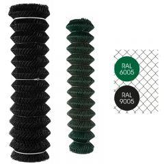 Gaas Harmonica Geplastificeerd Groen en Zwart-Zwart-50/2.8-1.25m x 25m