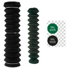 Gaas Harmonica Geplastificeerd Groen en Zwart-Zwart-50/2.8-1.50m x 25m