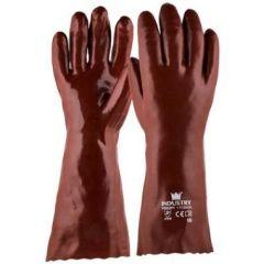 Handschoen PVC rood 350 mm