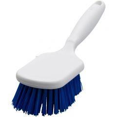 Hygiene handborstel korte steel 25 cm blauw