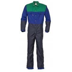 Melkersoverall Havep blauw/groen poly/katoen
