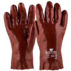 Handschoen PVC rood 270 mm maat 10