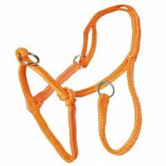 Schuifhalster Koe nylon oranje gevlochten