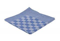 Theedoek blok 65x65 cm blauw 6 stuks