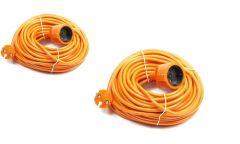 Verlengsnoer/tuinsnoer oranje